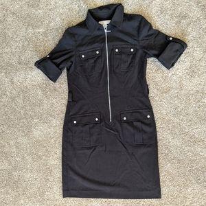 Michael Kors Black Zip Up Black Dress Small